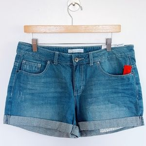 French Connection | Boyfriend Wash Cuffed Shorts
